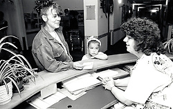 Receptionist, City Hospital, Nottingham UK 1991