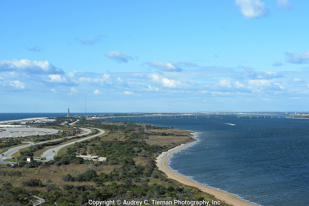 Babylon, NY,  October 25, 2016: --- Looking west from the top of the Fire Island Lighthouse.                                              © Audrey C. Tiernan