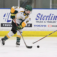 5th year forward Kylee Kupper (21) of the Regina Cougars in action during the Women's Hockey home game on February 10 at Co-operators arena. Credit: Arthur Ward/Arthur Images