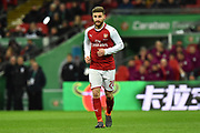 Shkodran Mustafi (20) of Arsenal during the EFL Cup Final match between Arsenal and Manchester City at Wembley Stadium, London, England on 25 February 2018. Picture by Graham Hunt.