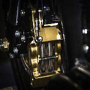 Eicma: Salone Internazionale del Motociclo, la più importante fiera mondiale delle due ruote edizione 2013. Il doppio disco anteriore proposto dalla francese Avinton.<br /> <br /> Eicma: the most important exhibition in the world dedicated to motorbike , 2013 edition. The double disc brake of the french factory Avinton