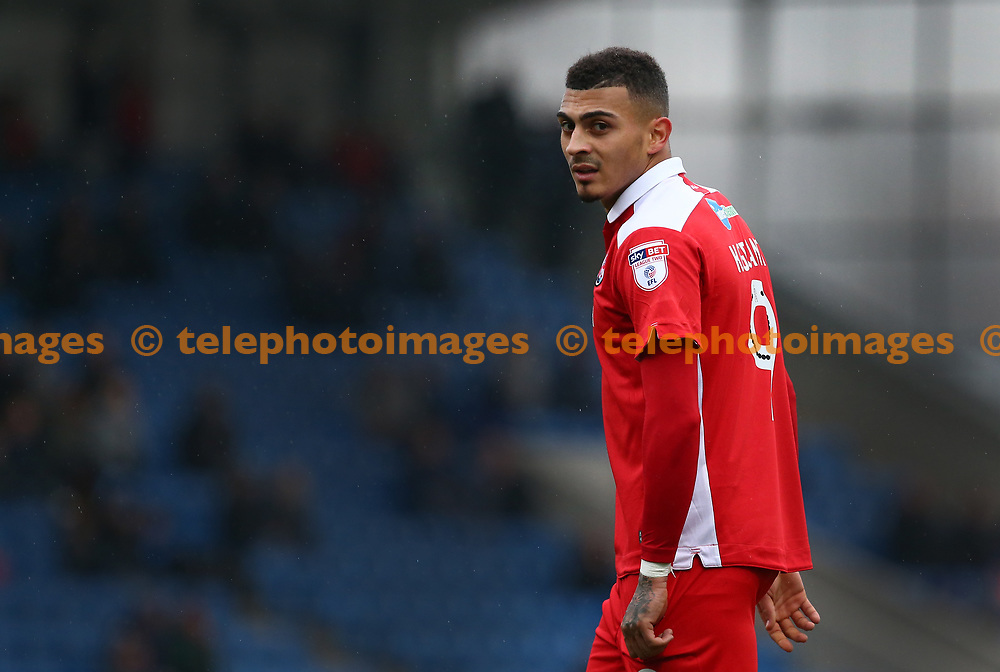 Crawley's Karlan Ahearne-Grant during the Sky Bet League 2 match between Chesterfield and Crawley Town at the Proact Stadium in Chesterfield. 03 Feb 2018