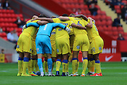 AFC Wimbledon prior the EFL Sky Bet League 1 match between Charlton Athletic and AFC Wimbledon at The Valley, London, England on 17 September 2016. Photo by Stuart Butcher.