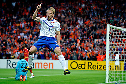 01.06.2010, Stadium De Kuip, Rotterdam, NLD, FIFA Worldcup Vorbereitung, Netherlands vs Ghana, im Bild Dirk Kuyt scired the first goal for Holland.. EXPA Pictures © 2010, PhotoCredit: EXPA/ nph/ Hoogendoorn / SPORTIDA PHOTO AGENCY