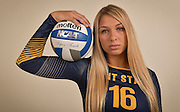 Freshman outside hitter for the Kent State 2016 Women's Volleyball team, Ashley Makruski.
