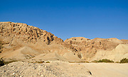 Ein Gedi, Israel, Nahal Arugot (Arugot stream) flows into the Dead Sea. All the water is collected for agriculture before it reaches the Dead Sea