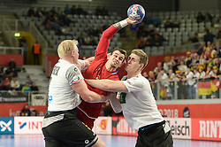 Becvar Roman of Czech Republic during handball match between National teams of Germany and Czech Republic on Day 2 in Main Round of Men's EHF EURO 2018, on January 19, 2018 in Arena Varazdin, Varazdin, Croatia. Photo by Mario Horvat / Sportida