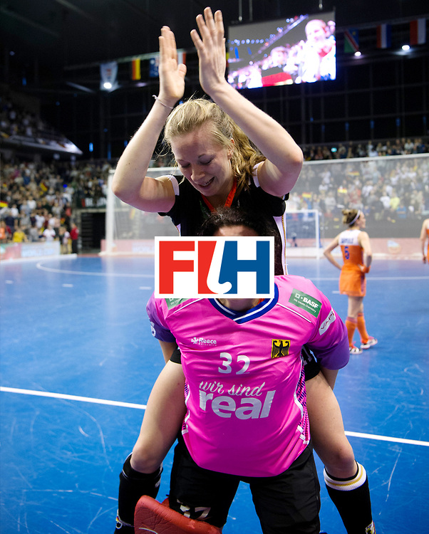 BERLIN - Indoor Hockey World Cup<br /> Final: Netherlands - Germany<br /> Germany wins the world championship.<br /> foto: Rosa Krueger and Franzisca Hauke.<br /> WORLDSPORTPICS COPYRIGHT FRANK UIJLENBROEK