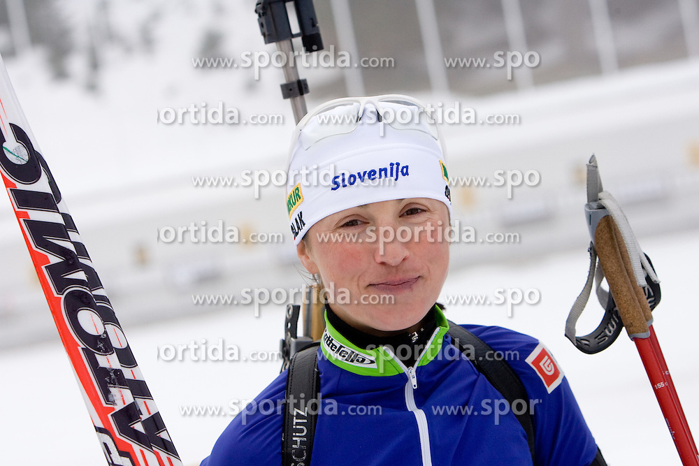 Dijana Ravnikar at training session of Slovenian biathlon team before new season 2009/2010,  on November 16, 2009, in Pokljuka, Slovenia.   (Photo by Vid Ponikvar / Sportida)