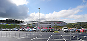 Brighton Community Stadium and car park during the Japan Captain's Run training session in preparation for the Rugby World Cup at the American Express Community Stadium, Brighton and Hove, England on 18 September 2015.