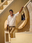 One of the friendly guides from the Jantar Mantar, Astronomy collection in Jaipur, India.  <br /> <br /> Nikon D750 135mm  ISO 640  f11  1/1250s
