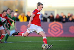 Lucy Graham of Bristol City scores a penalty making it 1-1 - Mandatory by-line: Nizaam Jones/JMP - 27/01/2019 - FOOTBALL - Stoke Gifford Stadium - Bristol, England - Bristol City Women v Yeovil Town Ladies- FA Women's Super League 1