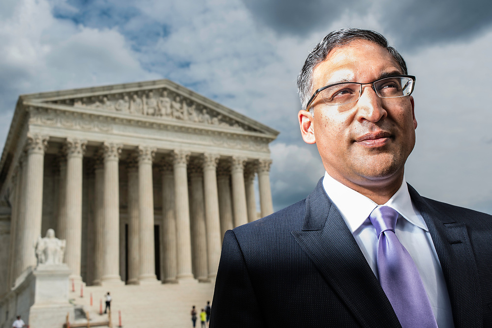 WASHINGTON, DC -- 8/10/17 -- Supreme Court lawyer Neal Katyal is one of the leading attorneys for the state of Hawaii as they fight President Trump's travel ban. Katyal, now an attorney with Hogan Lovells, and former Acting Solicitor General, has argued more cases before the Supreme Court, 34, than any other minority attorney except Thurgood Marshall, with whom he's currently tied..…by André Chung #_AC13992
