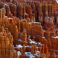 Panoramic image of Hoodoos in Bryce Canyon from Inspiration Point.