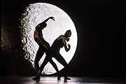 Alexander Whitley Dance Company with 8 Minutes. World Premier Tuesday 27th June 2017. Sadler's Wells New Wave Associate Alexander Whitley takes on the breathtaking scale of space for his company's main stage debut. 8 Minutes draws inspiration from the images and data of solar science research to explore the spectacular forces at work in the universe and illuminate our relationship with the star that gives us life. Dancers: Julia Sanz Fernandez, David Ledger, Luke Crook, Victoria Roberts, Hannah Eckholm, Tia Hockey, Leon Poulton ©Tony Nandi 2017