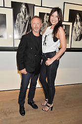 KEVIN CARRIGAN Global Creative Director of ck Calvin Klein DAISY LOWE at the Calvin Klein Jeans X mytheresa.com launch the Re-Issue Project at 37 Rathbone Street, London on 17th July 2014.