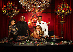"Kim Kardashian releases a photo on Twitter with the following caption: """"Casino Royale! Happy Birthday John!!!!"""". Photo Credit: Twitter *** No USA Distribution *** For Editorial Use Only *** Not to be Published in Books or Photo Books ***  Please note: Fees charged by the agency are for the agency's services only, and do not, nor are they intended to, convey to the user any ownership of Copyright or License in the material. The agency does not claim any ownership including but not limited to Copyright or License in the attached material. By publishing this material you expressly agree to indemnify and to hold the agency and its directors, shareholders and employees harmless from any loss, claims, damages, demands, expenses (including legal fees), or any causes of action or allegation against the agency arising out of or connected in any way with publication of the material."