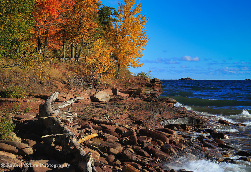 &quot;Autumn Viewing&quot; <br /> <br /> A scenic autumn viewing place at Presque Isle Park in Marquette Michigan!