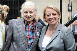© Licensed to London News Pictures. 04/06/2016. London, UK. Vivienne Westwood and Natalie Bennett MP attend the NHS Bursary Cuts Forum demonstration in central London, marching against government cuts to the NHS bursary. Photo credit : Tom Nicholson/LNP