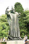 Statue of bishop Gregory of Nin, in the Giardin Park. Split, Dalmatia, Croatia