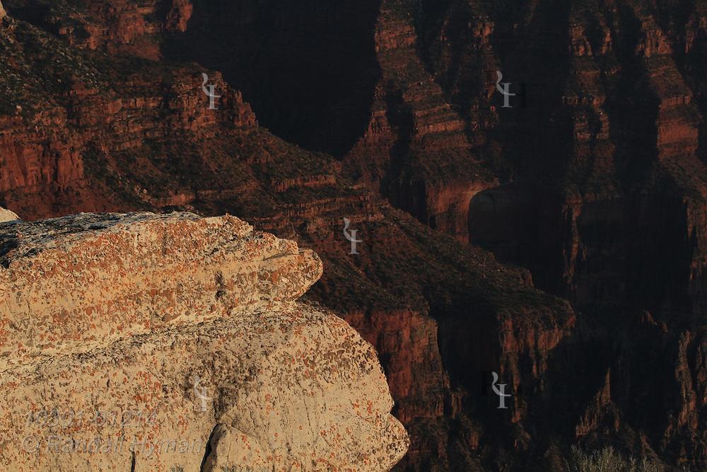 September sunset, Bright Angel Point, North Rim, Grand Canyon National Park, Arizona.