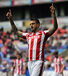 Joselu of Stoke City celebrates scoring his sides first goal - Mandatory by-line: Jack Phillips/JMP - 29/07/2017 - FOOTBALL - Macron Stadium - Bolton, England - Bolton Wanderers v Stoke City - Pre-Season Club Friendly