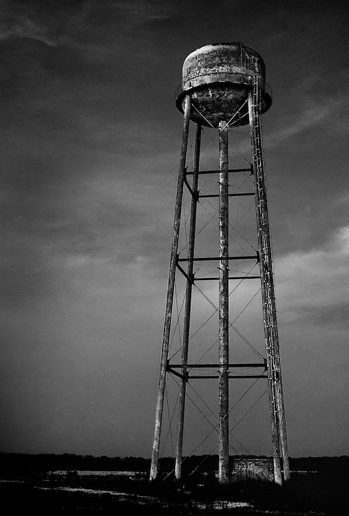 Water tower at now defunct magnesite plant in Cape May, New Jersey.