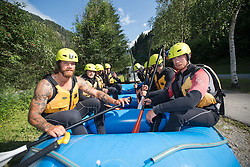 14.07.2015, Ainet, AUT, Eishockey Cracks bei Raftingtour auf der Isel, im Bild v.l. homas Raffl (EC Red Bull Salzburg, EBEL)<br /> Michael Raffl (Philadelphia Flyers, NHL) // Hockey Cracks during a rafting tour on the East Tyrolean glacial river Isel Ainet, Austria on 2015/07/14. EXPA Pictures © 2015, PhotoCredit: EXPA/ Johann Groder