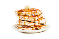 A stack of pancakes from the Boardwalk Cafe in Webster Groves, St. Louis.