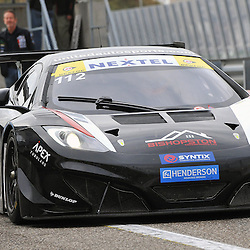 Glynn Geddie returning back to the pits in his United Autosport McLaren MP4-12c after his win in the Supercar Challenge GT + Supercar event at Circuit Park Zandvoort on the 7th September 2013<br /> WAYNE NEAL | SPORTPIX.ORG.UK