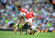 Marouane Chamakh.Arsenal 2010/2011.Efrain Juarez Celtic.Arsenal V Celtic (3-2) 01/08/10.The Emirates Cup 2010.al
