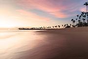 Beach sunrise along a coastline in Punta Cana, Dominican Republic