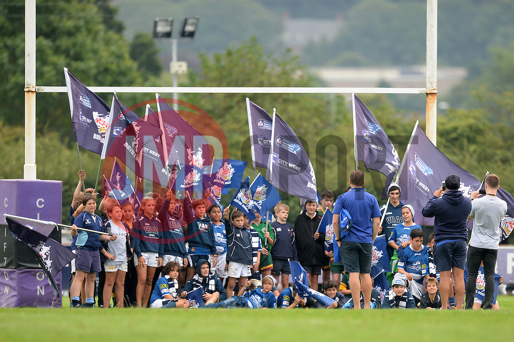 Bristol Rugby fans pose for a photo - Mandatory by-line: Dougie Allward/JMP - 27/08/2016 - RUGBY - Clifton RFC - Bristol, England - Bristol Rugby v Wasps - Pre-season friendly