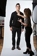 American actor Ben Schnetzer, photographed in the photographer's studio in East London, Britain.