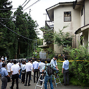 SAGAMIHARA, JAPAN - JULY 27 :  Japanese reporters wait outside of the house of Satoshi Uematsu, the suspect in a mass stabbing attack, for the Police investigation to search his house at Sagamihara on Wednesday, July 27, 2016 in Kanagawa prefecture, Japan. Police arrested 26 year old Satoshi Uematsu after breaking inside the building facility for handicapped and killing 19 people and injuring 20 in the city of Sagamihara, west of Tokyo. (Photo: Richard Atrero de Guzman/NURPhoto)