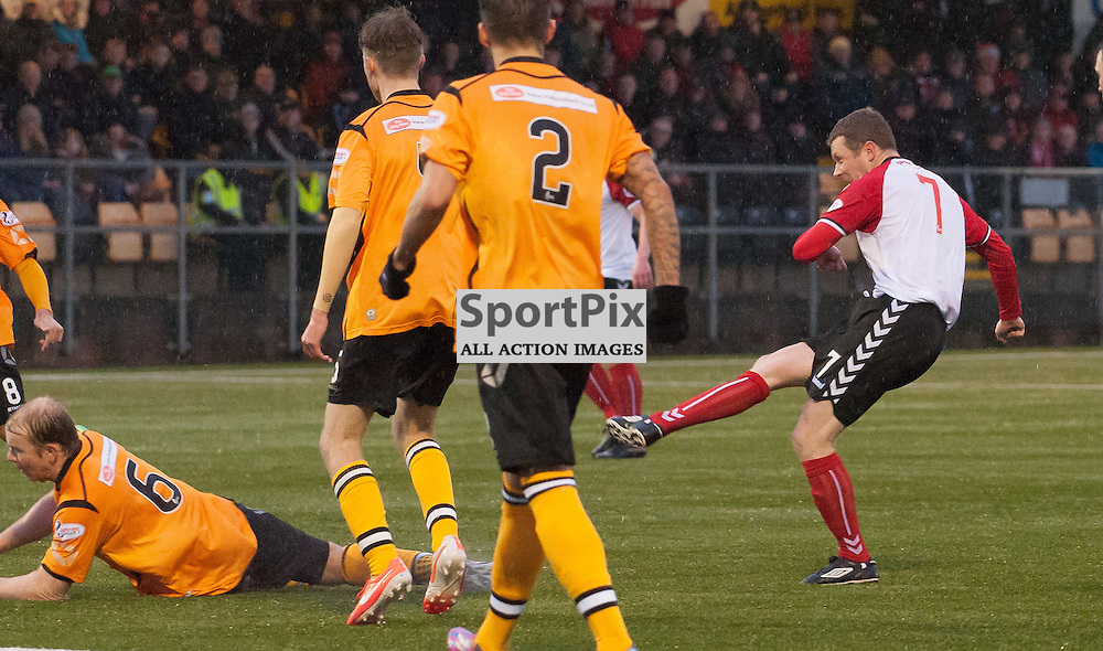 Scott McLaughlin (Clyde) makes it 0-2 ¥ Annan Athletic v Clyde ¥ Ladbrokes League 2 ¥ 26 December 2015 ¥ © Russel Hutcheson | SportPix.org.uk