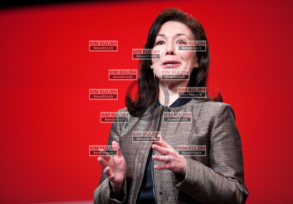 Safra Catz, co-president of Oracle Corp., speaks at the opening night of the Oracle OpenWorld Conference in San Francisco, California.  Oracle is launching new software an hardware products at the annual event.