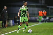 Forest Green Rovers Liam Shephard(2) on the ball during the EFL Sky Bet League 2 match between Forest Green Rovers and Crewe Alexandra at the New Lawn, Forest Green, United Kingdom on 26 October 2019.