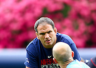 Pennyhill Park - Wednesday 26 May 2010:  Martin Johnson talks to one of the England forwards coaches during the England Elite Player Squad training session at Pennyhill Park, Bagshot Surrey. England play the Barbarians on the 30th May at Twickenham.  (Pic by Andrew Tobin/Focus Images)