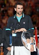 MARIN CILIC (CRO), Siegerehrung<br /> <br /> Tennis - Australian Open 2018 - Grand Slam / ATP / WTA -  Melbourne  Park - Melbourne - Victoria - Australia  - 28 January 2018.