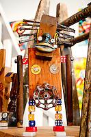 Long Island, New York. West Hampton outsider art exhibition.