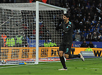 Football - 2017 / 2018 FA Cup - Quarter-Final: Leicester City vs. Tottenham Hotspur<br /> <br /> Alvaro Morata of Chelsea celebrates scorin his first half goal past Kasper Schmeichel, at King Power Stadium.<br /> <br /> COLORSPORT/ANDREW COWIE