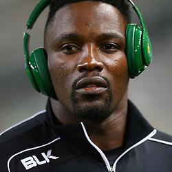 DURBAN, SOUTH AFRICA, 9,JULY, 2016 Lwazi Mvovo of the Cell C Sharks during The Cell C Sharks vs Toyota Cheetahs  Super Rugby Match at Growthpoint Kings Park in Durban, South Africa. (Photo by Steve Haag)<br /> <br /> images for social media must have consent from Steve Haag