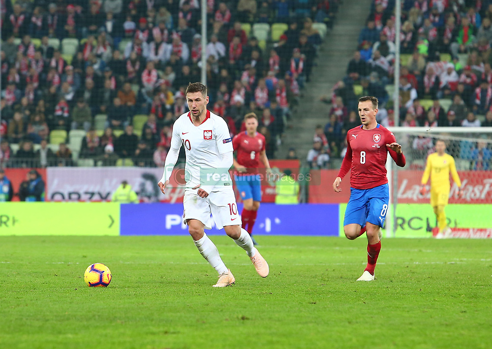 November 15, 2018 - Gdansk, Pomorze, Poland - Grzegorz Krychowiak (10) Vladimir Darida (8) during the international friendly soccer match between Poland and Czech Republic at Energa Stadium in Gdansk, Poland on 15 November 2018  (Credit Image: © Mateusz Wlodarczyk/NurPhoto via ZUMA Press)