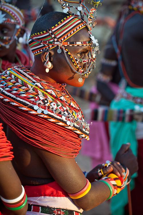 Local women in traditional dress, Samburu, Kenya