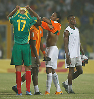Photo: Steve Bond/Richard Lane Photography.<br />Ivory Coast v Mali. Africa Cup of Nations. 29/01/2008. Didier Drogba (C) and Sammy Traore (17,L) exchange shirts