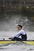 Putney. London,  Great Britain.<br /> Oxford Blue Boat, Stroke Nik HAZELL.<br /> 2016 Tideway Week, Putney. Putney Embankment, Championship Course. River Thames.<br /> <br /> Friday  25/03/2016 <br /> <br /> [Mandatory Credit; Peter SPURRIER/Intersport-images] Blue Boat, Stroke, <br /> 2016 Tideway Week, Putney. Putney Embankment, Championship Course. River Thames.<br /> <br /> Saturday  26/03/2016 <br /> <br /> [Mandatory Credit; Peter SPURRIER/Intersport-images]