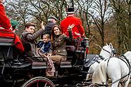Princess Mary and Princess Josephine and Prince Christian during the annual 'Hubertusjagten' (Fox Hu