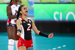 Winifer Maria Fernandez Perez of Dominican Republic celebrates during the volleyball match between National team of Dominican Republic and Argentina in Preliminary Round of Womens U23 World Championship 2017, on September 12, 2017 in SRC Stozice, Ljubljana, Slovenia. Photo by Morgan Kristan / Sportida