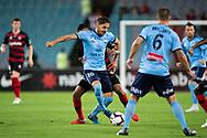 Sydney FC midfielder Milos Ninkovic (10) controls the ball at the Hyundai A-League Round 8 soccer match between Western Sydney Wanderers FC and Sydney FC at ANZ Stadium in NSW, Australia